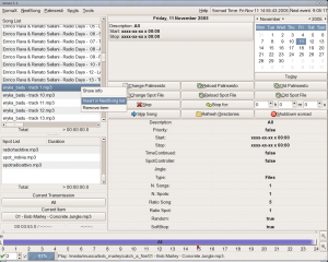 Figure 3: Somasuite's graphical interface offers a complete view of your radio's program schedule.